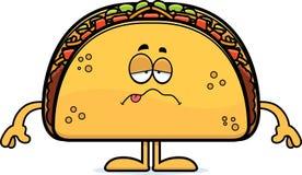 Taco doente dos desenhos animados Imagem de Stock