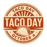 Taco dzień, Październik 4 royalty ilustracja