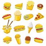 taco för pie för burritosnabbmatkebab set vektor royaltyfri illustrationer
