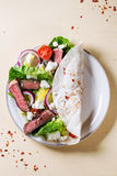 Taco with feta cheese and beef Royalty Free Stock Image