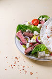 Taco with feta cheese and beef Royalty Free Stock Photo
