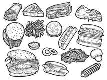 taco figé de secteur de kebab d'aliments de préparation rapide de burrito illustration stock