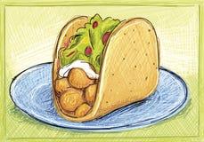 Taco grande Imagens de Stock