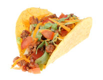 Taco Isolated. One taco isolated on a white background Royalty Free Stock Photos