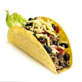 Taco Isolated on White Background.  Royalty Free Stock Photography