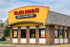 Taco John's Exterior and Sign Stock Images