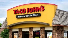 Taco John's Exterior and Sign stock video