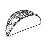 Taco konturu ilustracja Zdjęcie Stock