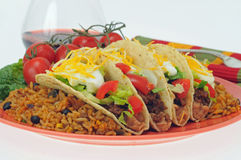 Taco-Mahlzeit Stockfotos
