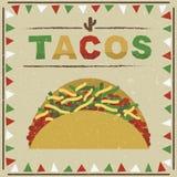 Taco mexicano ilustración del vector