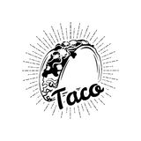 taco Mexico mat Traditionell mexicansk kokkonst Ett objekt vektor stock illustrationer