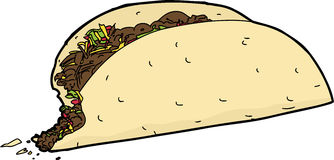 Taco with Missing Bite Stock Photos