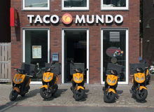 Taco mundo store royalty free stock photos