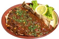 Taco, nacho e salsa al pomodoro di pollo Fotografie Stock Libere da Diritti