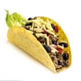 Taco Odizolowywający na Białym tle fotografia royalty free