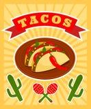 Taco plakat Obrazy Royalty Free