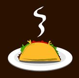 Taco on plate Stock Photos