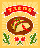 Taco poster Royalty Free Stock Images