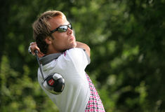 Taco Remkes do jogador de golfe profissional fotos de stock