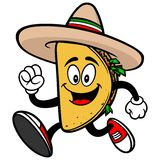 Taco Running Royalty Free Stock Photos