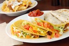 Taco's en Nachos royalty-vrije stock afbeeldingen