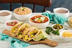 Taco's met eieren voor ontbijt Royalty-vrije Stock Fotografie