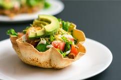 Taco sałatkowa skorupa Fotografia Royalty Free