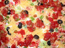 Taco Salad. A close up image of a taco medley royalty free stock photography