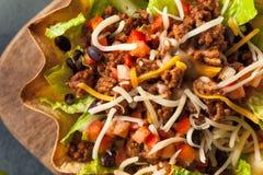 Taco Salad in a Tortilla Bowl Royalty Free Stock Image