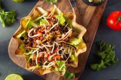 Taco Salad in a Tortilla Bowl Royalty Free Stock Photography