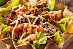 Taco Salad in a Tortilla Bowl Royalty Free Stock Images