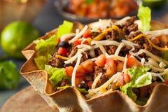 Taco Salad in a Tortilla Bowl Stock Images