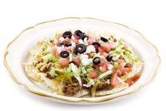 Taco Salad on White Background stock images