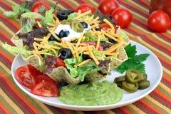 Taco-Salat in der Taco-Schüssel Lizenzfreie Stockfotos