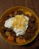 Taco-Salat in einer Schüssel lizenzfreie stockfotos