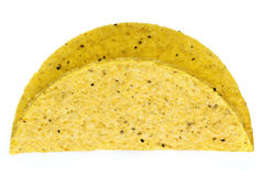 Taco shell Isolated on White Stock Photos