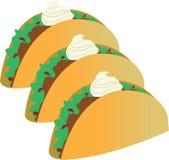 Taco Sour Cream Royalty Free Stock Image