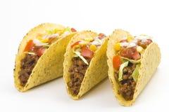 Taco squisito, alimento messicano fotografia stock