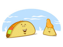 Taco and Tortilla Characters Stock Photo