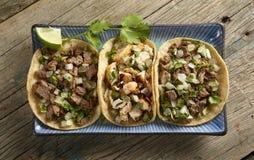 Taco-Trio Lizenzfreie Stockfotografie