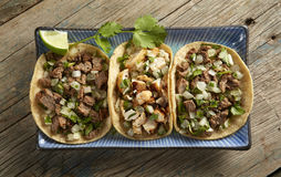 Taco Trio Royalty Free Stock Photography