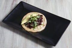 Taco vegano lizenzfreies stockbild