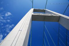 Tacoma Bridge Tower Royalty Free Stock Image