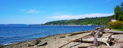 Tacoma Browns Point beach. Royalty Free Stock Photography