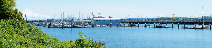 Tacoma Browns Point marina . Panoramic view Stock Images