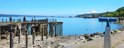 Tacoma, destroyed pier. Royalty Free Stock Photos