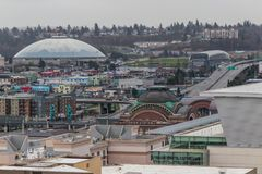 Tacoma Dome with landscape Stock Photography
