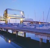 Tacoma downtown marina with bridge and pier. Stock Photography