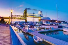 Tacoma downtown marina during twilight. WA Stock Photos