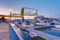 Free Tacoma Downtown Marina With Bridge And Pier. Stock Photography - 28475542